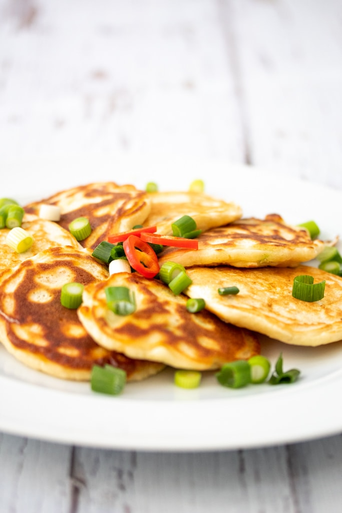 Plate of easy sweetcorn fritters