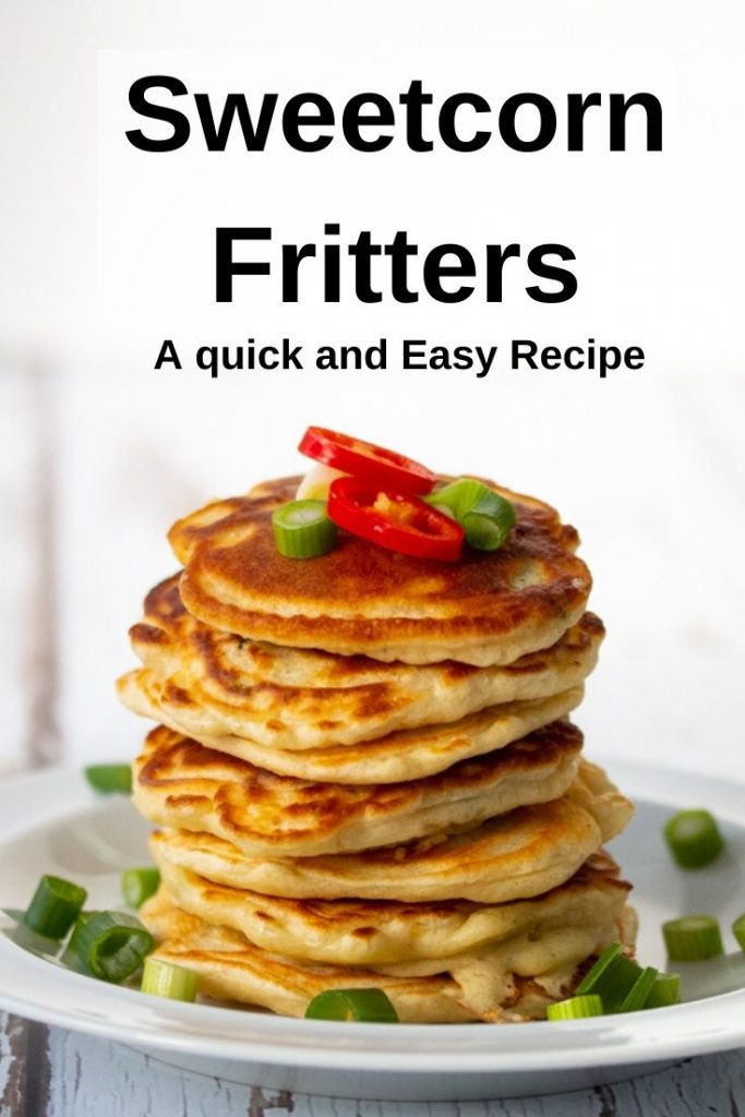 Pin image - sweetcorn fritters