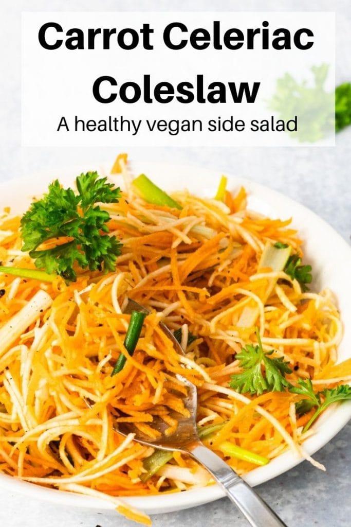 carrot celeriac salad pin image