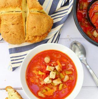 tomato and sausage soup
