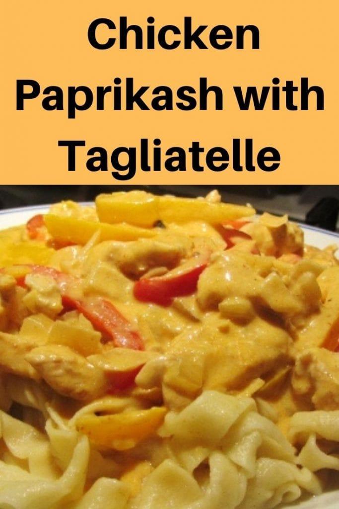 chicken paprikash pin image