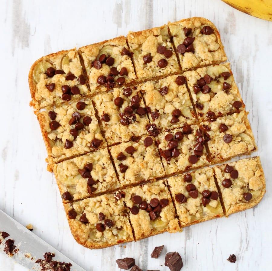 Chocolate banana oat bars