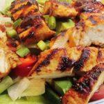Chamoy marinated chamoy chicken salad