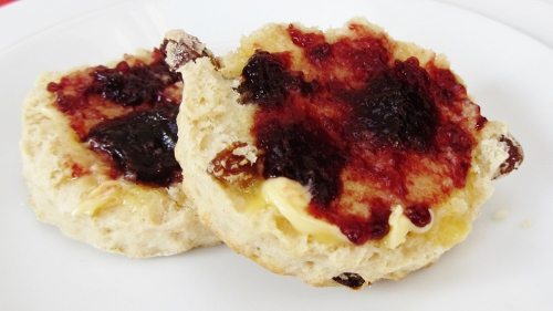 Traditional fruit scones