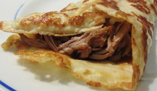 pulled pork tonkatsu in rolled pancake (500x292)