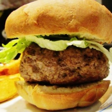 rosemary and thyme beef burger