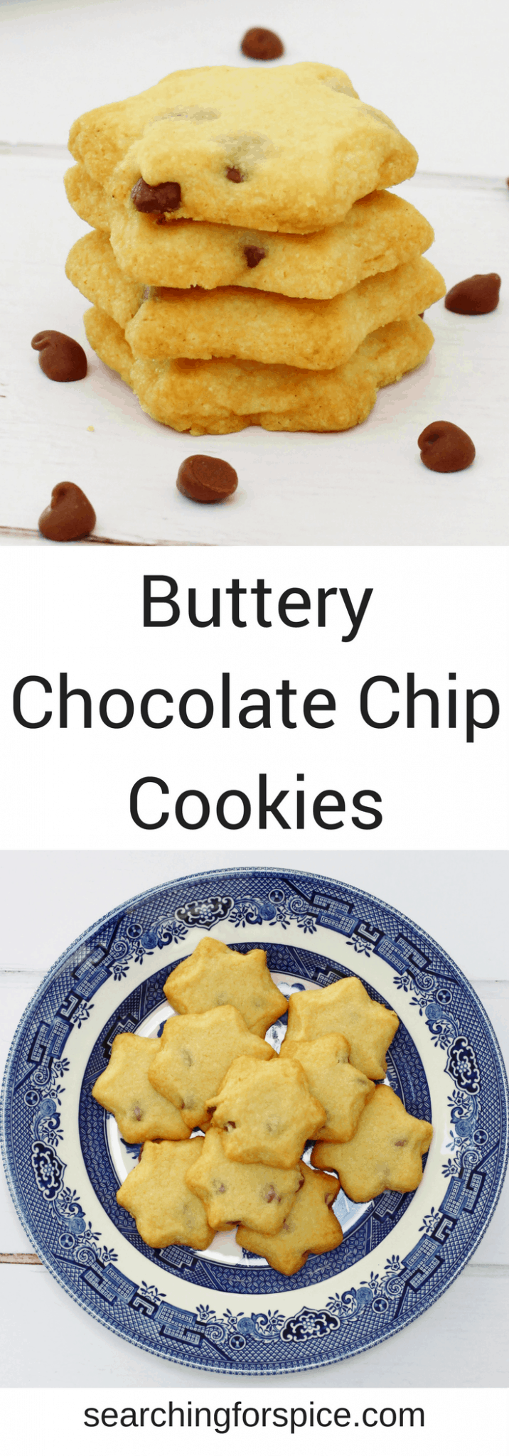 These buttery chocolate chip biscuits are just perfect with a glass of milk or a cup of tea. They also make a great baking activity to do with your kids. #cookies #ChocolateChipCookies #Biscuits #ButteryBiscuits #Snacks #CookingwithKids