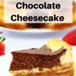 Mary Berry's American style chocolate baked cheesecake