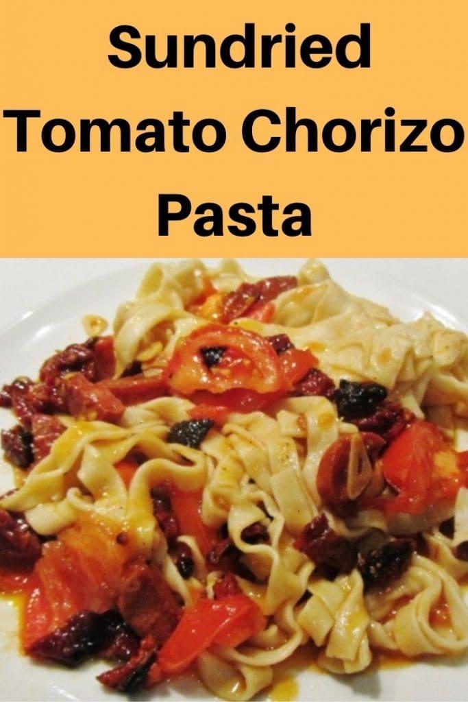 Sundried tomato chorizo tagliatelle
