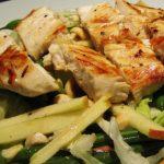 chicken, green bean and hazelnut salad