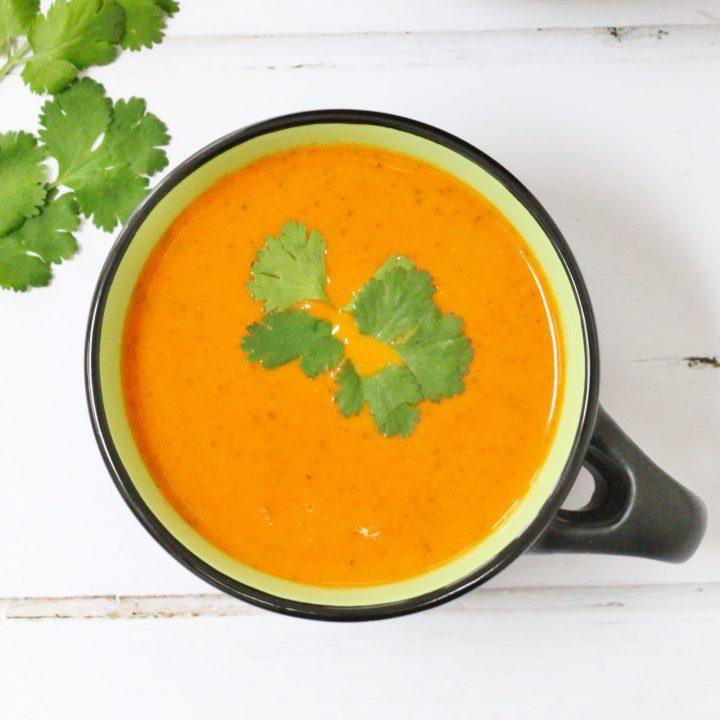 Tomato and coriander soup
