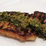 honey lime steak with chimichurri sauce