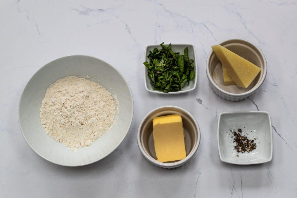 Basil and parmesan thins ingredients