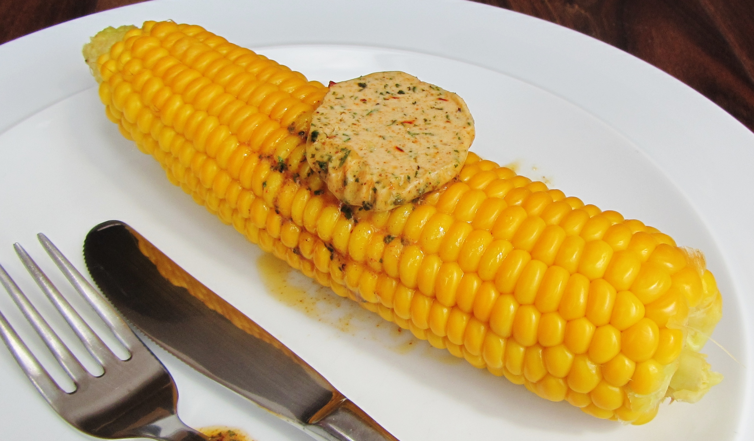 corn on the cob and Indian spiced butter