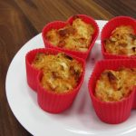 Cheddar and leek savoury muffins