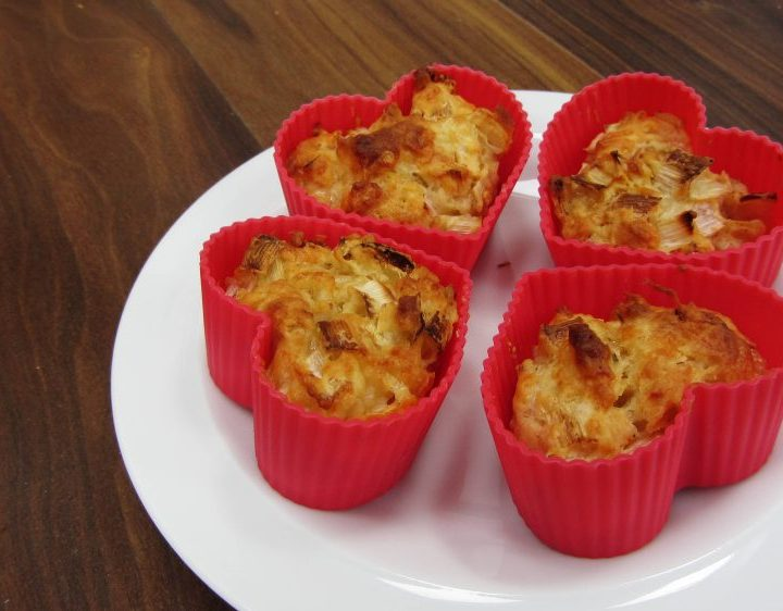 Cheddar and leek savoury muffins
