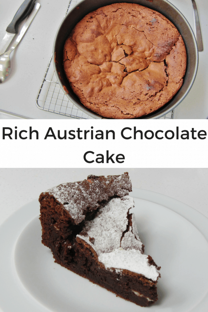 Austrian chocolate cake pin image