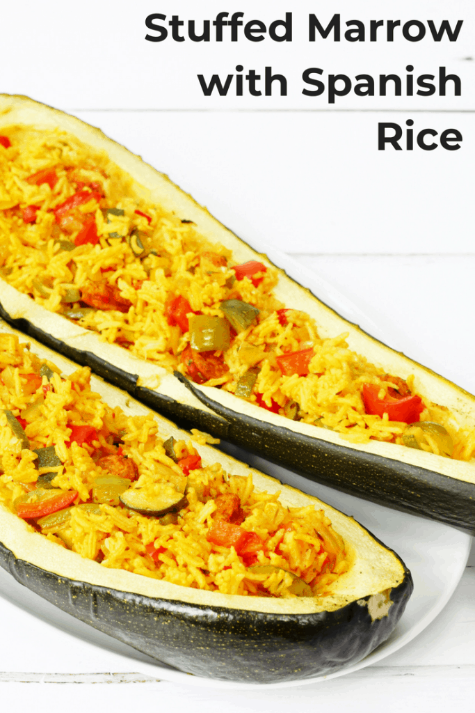 Spanish rice stuffed marrow recipe searching for spice this recipe for stuffed marrow filled with spanish rice flavoured with chorizo peppers onions forumfinder Choice Image
