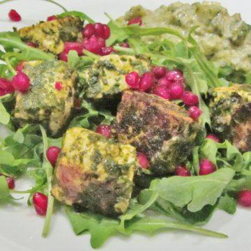 Marinated paneer salad