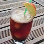 Pomegranate appletiser mocktail