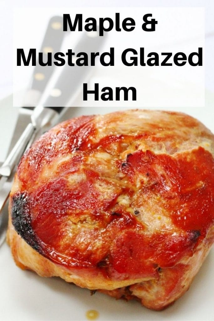 Maple Mustard Glazed Ham pin image