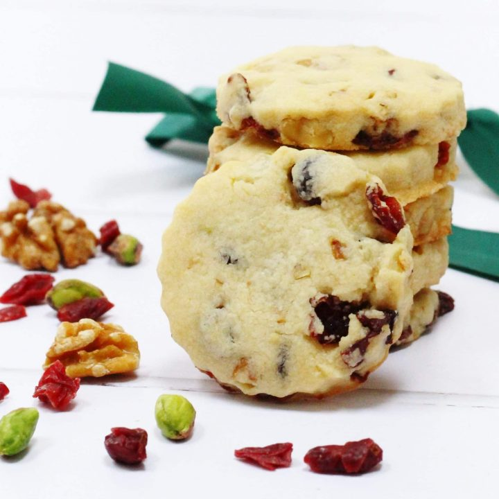 Nut and cranberry biscuits