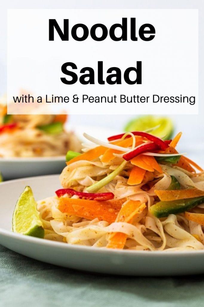 Noodle salad pin image