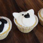 sheep, polar bear and cat cupcakes