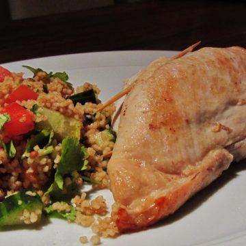 chicken stuffed with ras el hanout butter