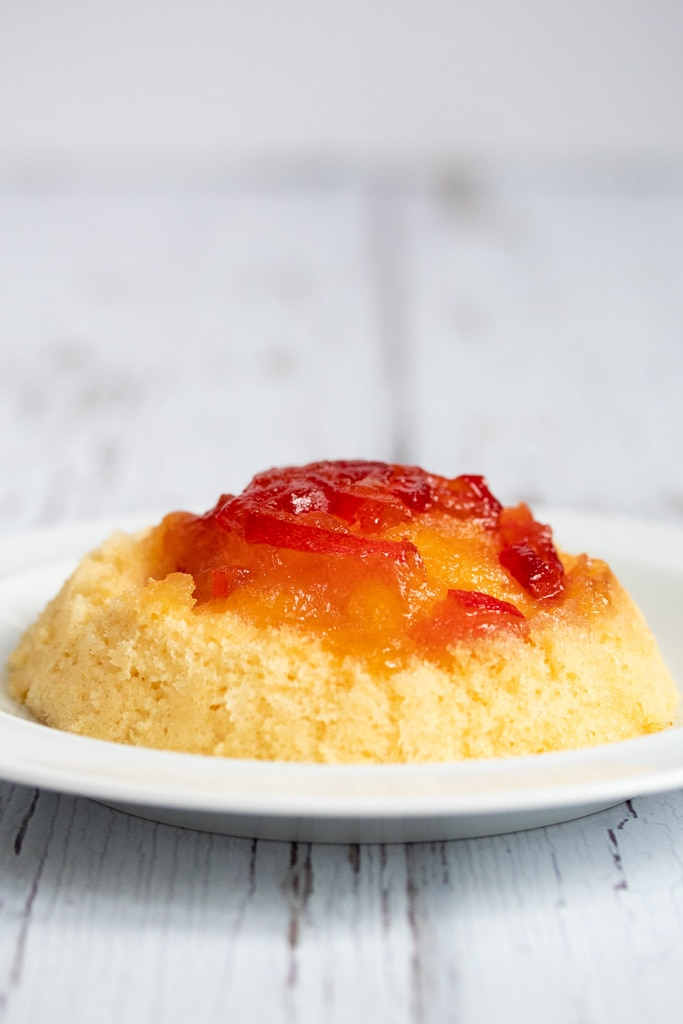 Marmalade sponge pudding on a plate