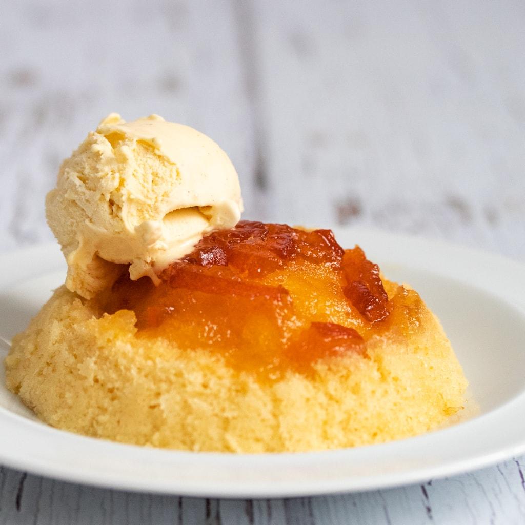 Microwave Sponge Pudding With Marmalade