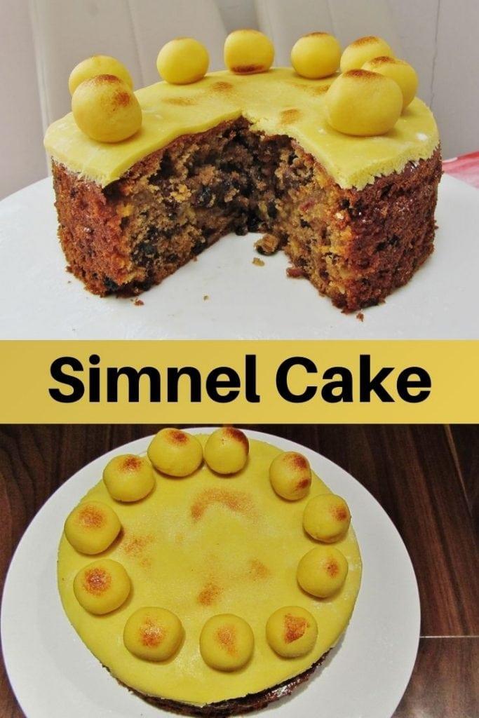 Simnel cake pin image