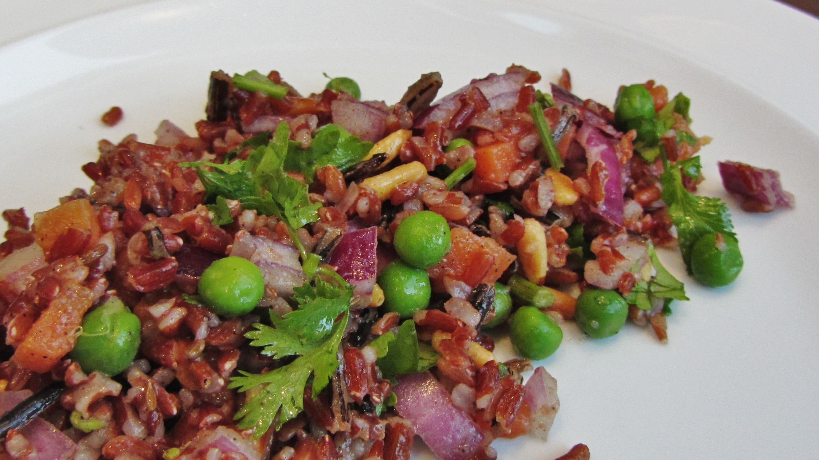 Spiced Wild Rice and Pea Salad