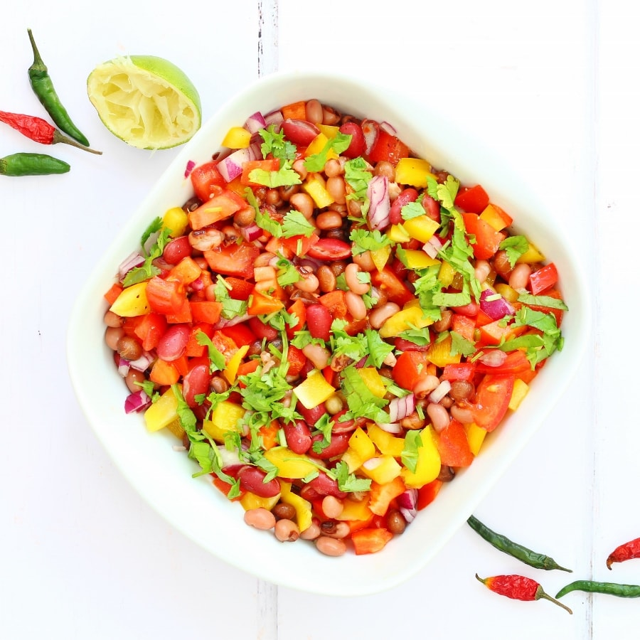 Caribbean three bean salad