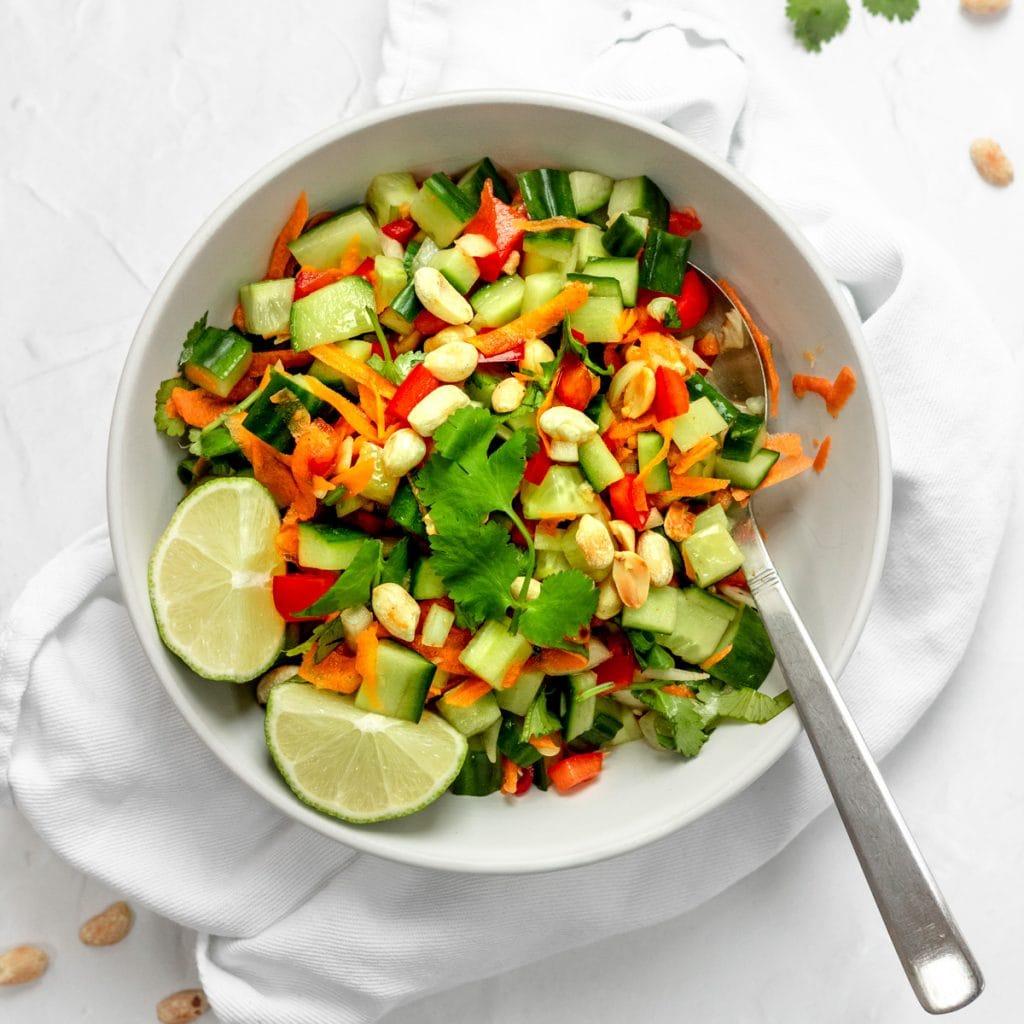 Bowl of Thai cucumber salad