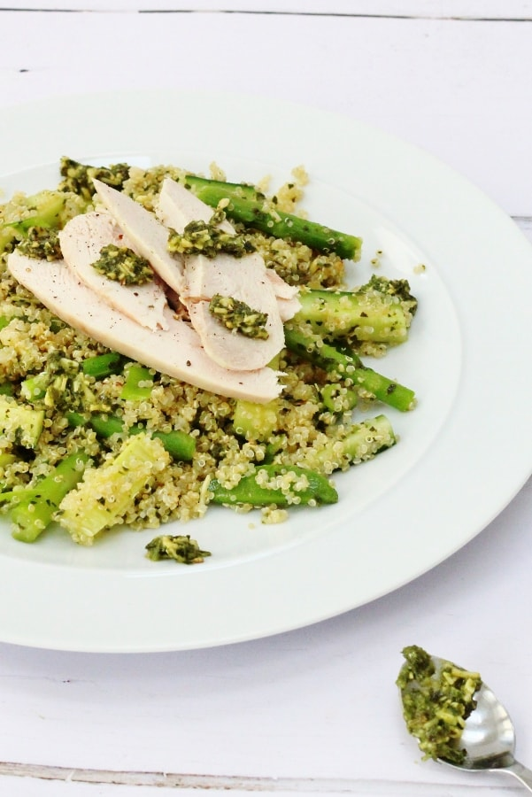 quinoa pesto chicken salad