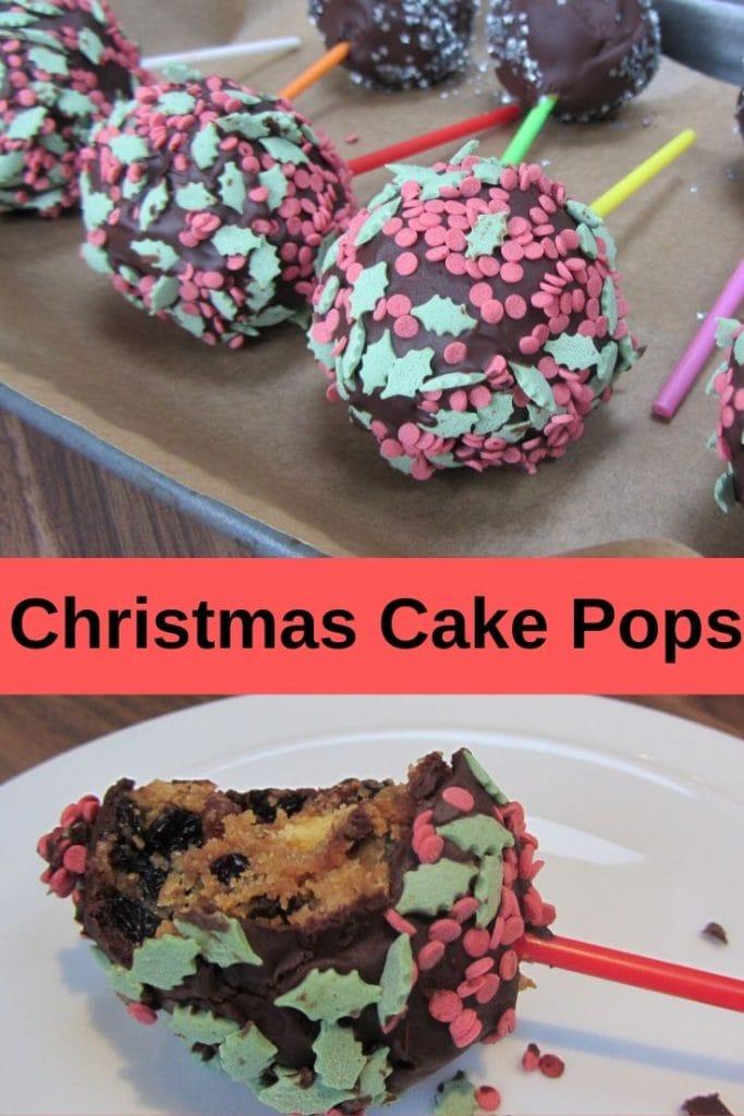 Pin image for Christmas Cake Pops