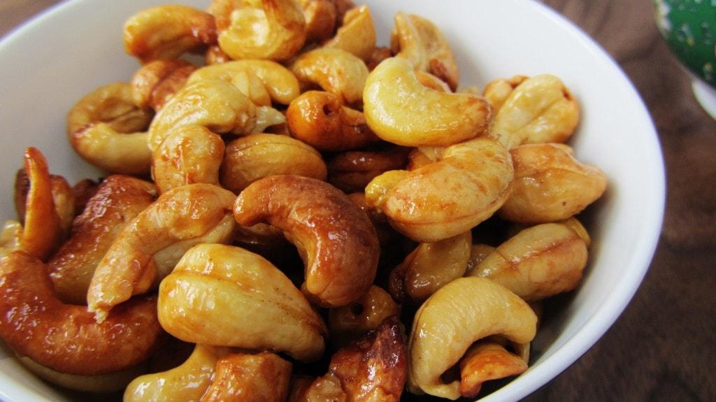 Honey roasted cashew nuts