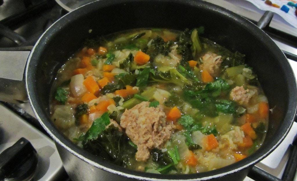 Sour Turkey Meatball Soup
