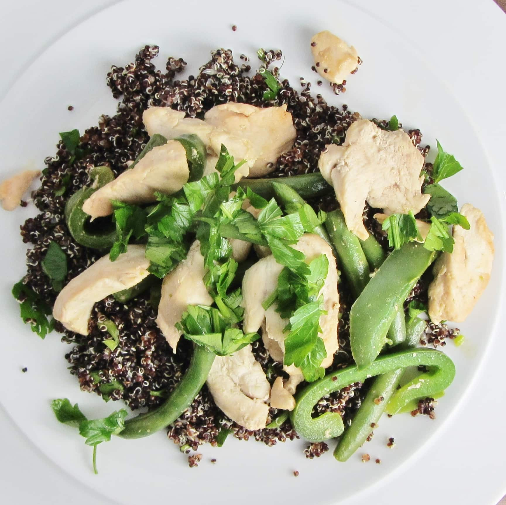 Black Quinoa and Chicken Salad - Searching for Spice