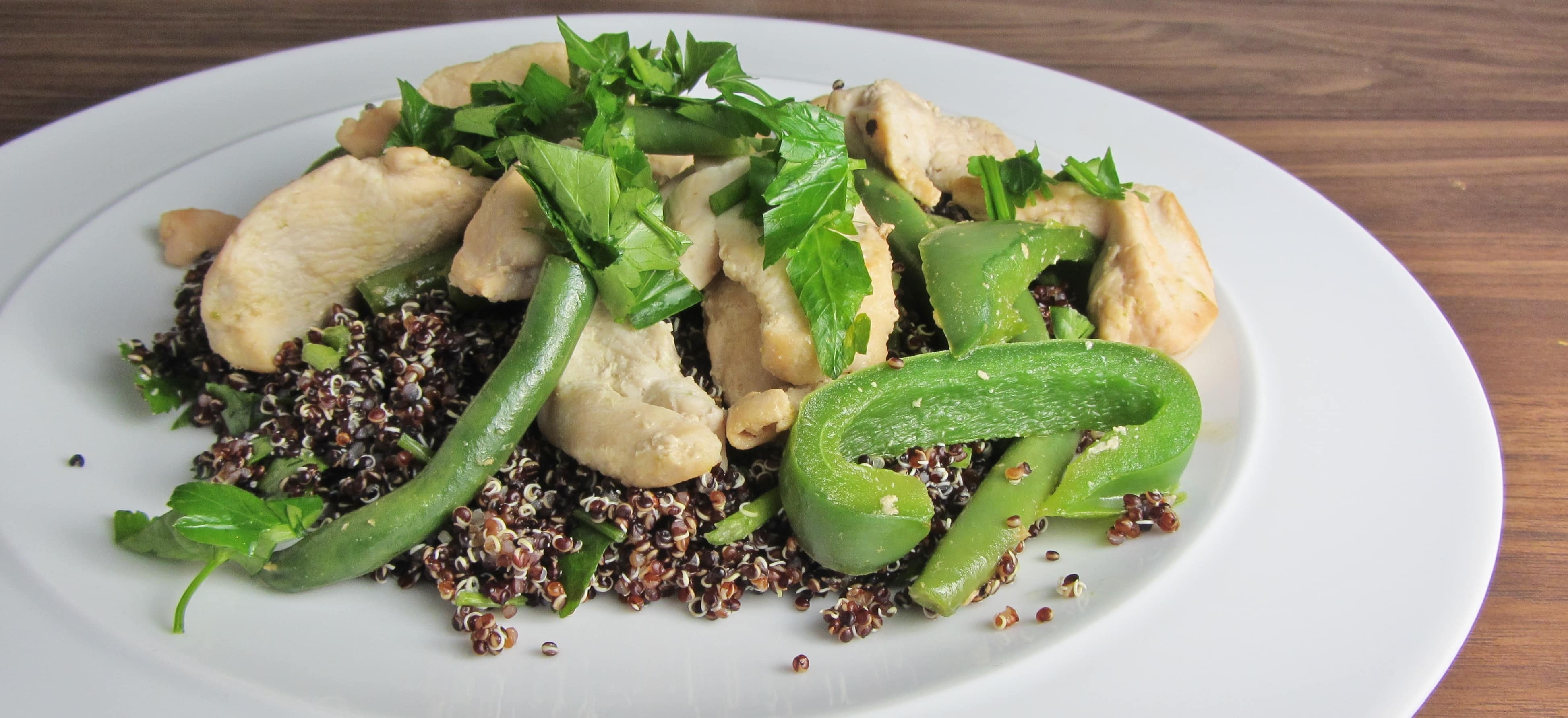 Green Bean + Black Quinoa Salad Recipe — Dishmaps