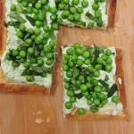 Pea and ricotta tart