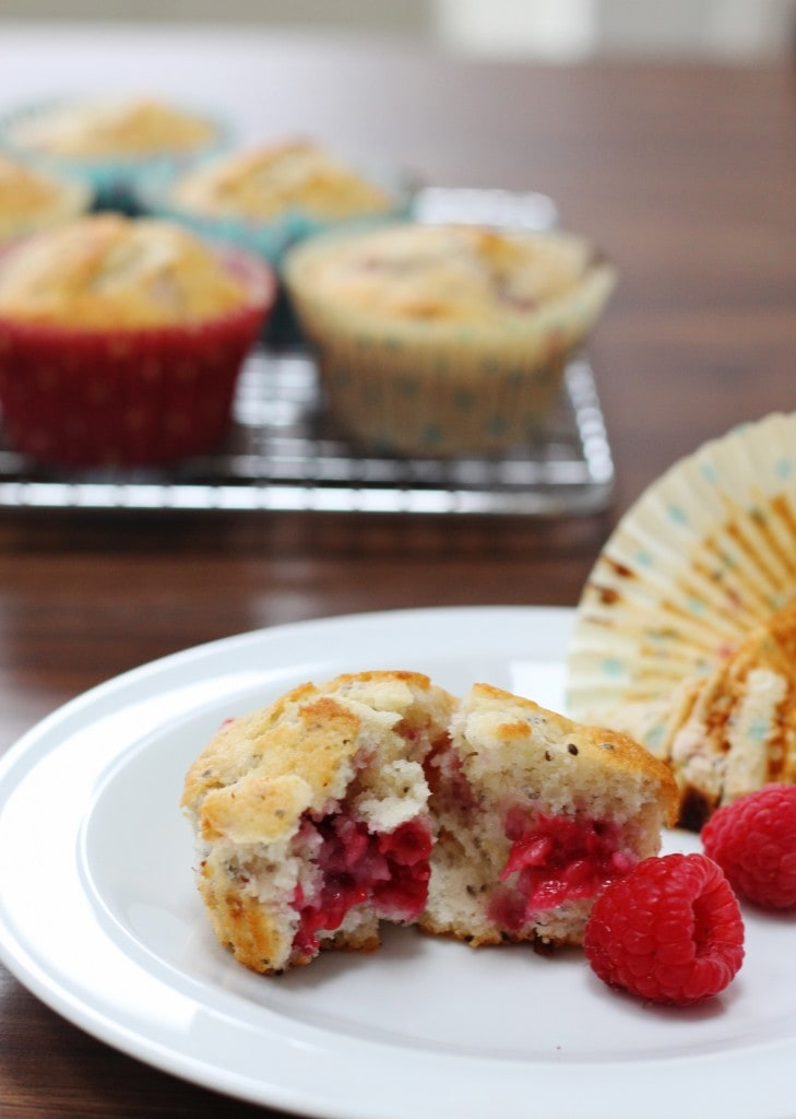 Lemon Raspberry and Chia Seed Muffins