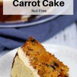 vegan carrot cake pin image