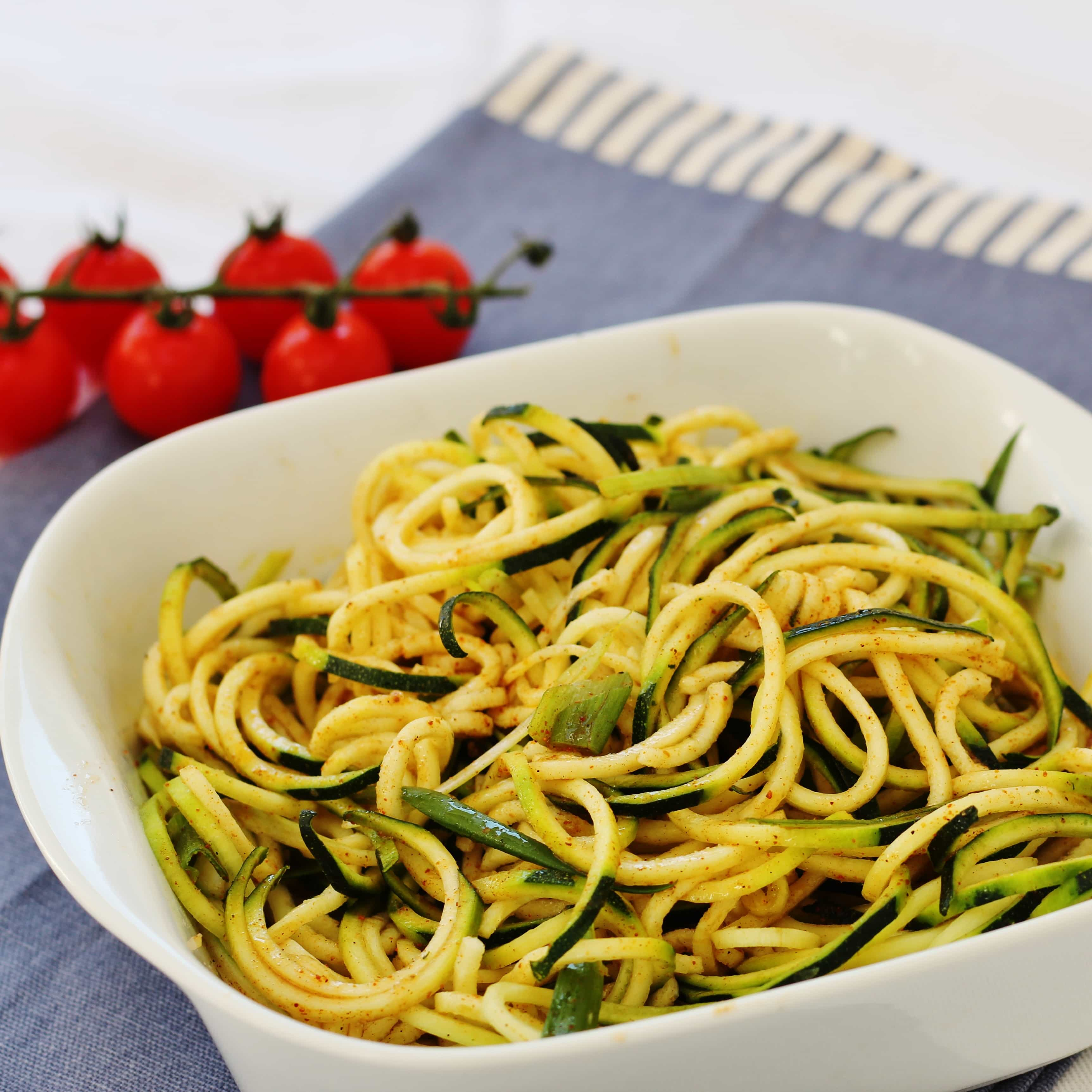 courgetti salad in a bowl