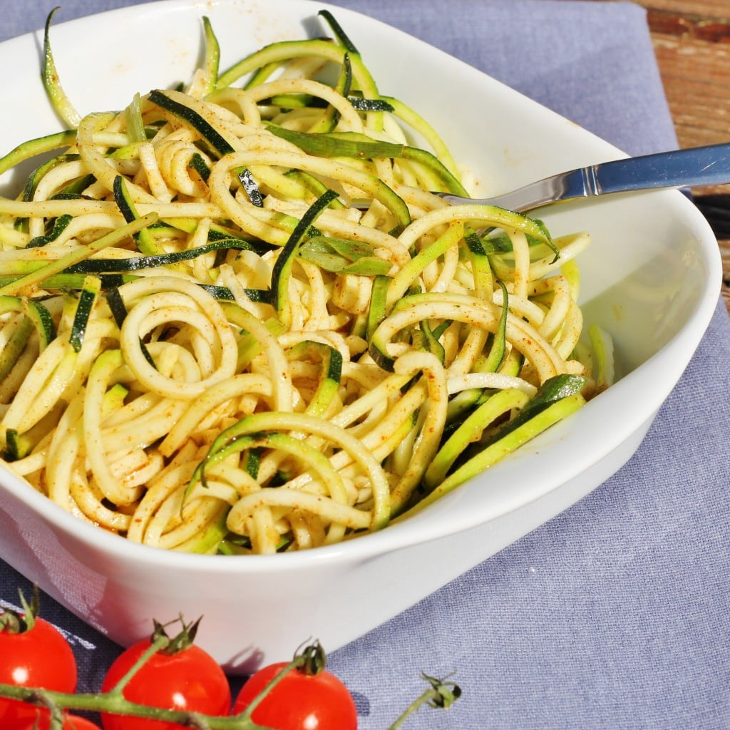courgetti salad seasoned with baharat spices