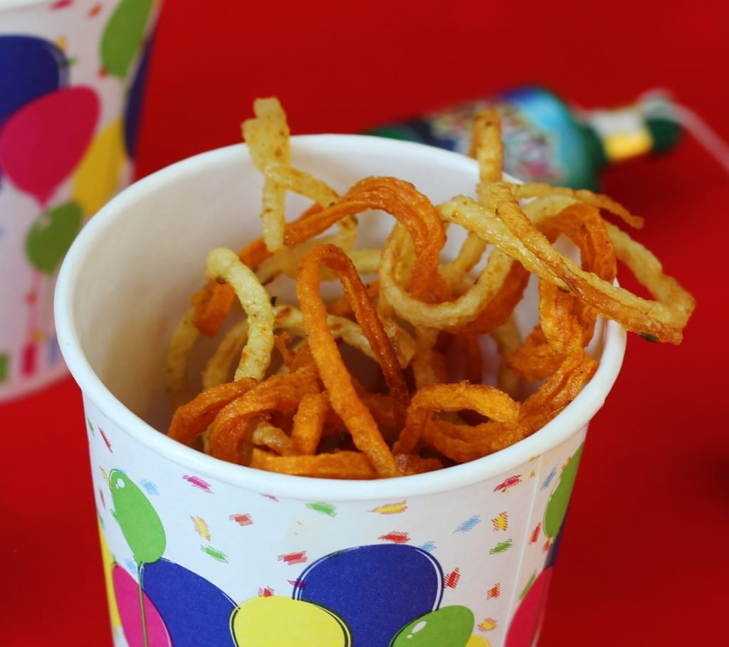 Skinny spicy fries