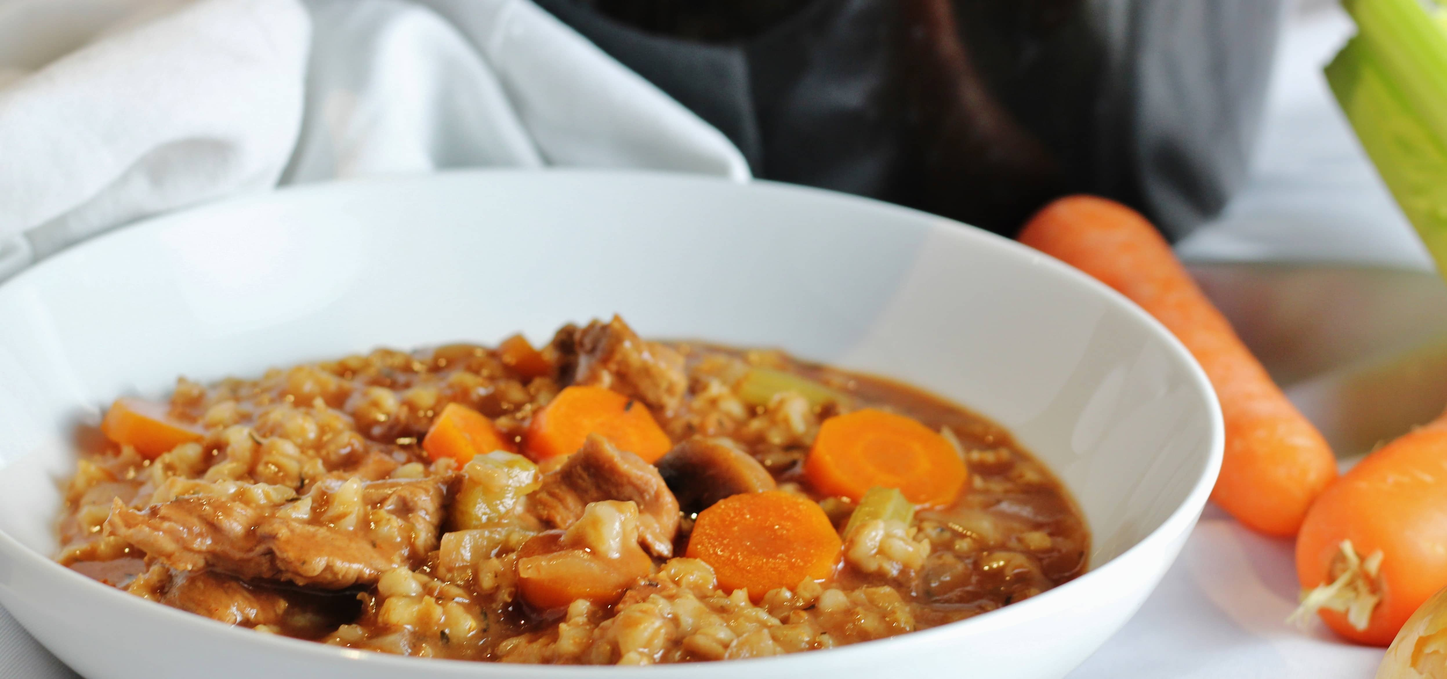 Beef and Barley Vegetable Stew - Searching for Spice