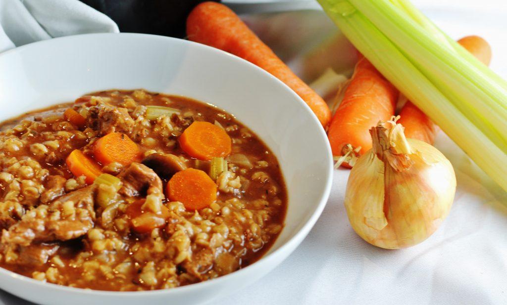 Beef barley vegetable stew