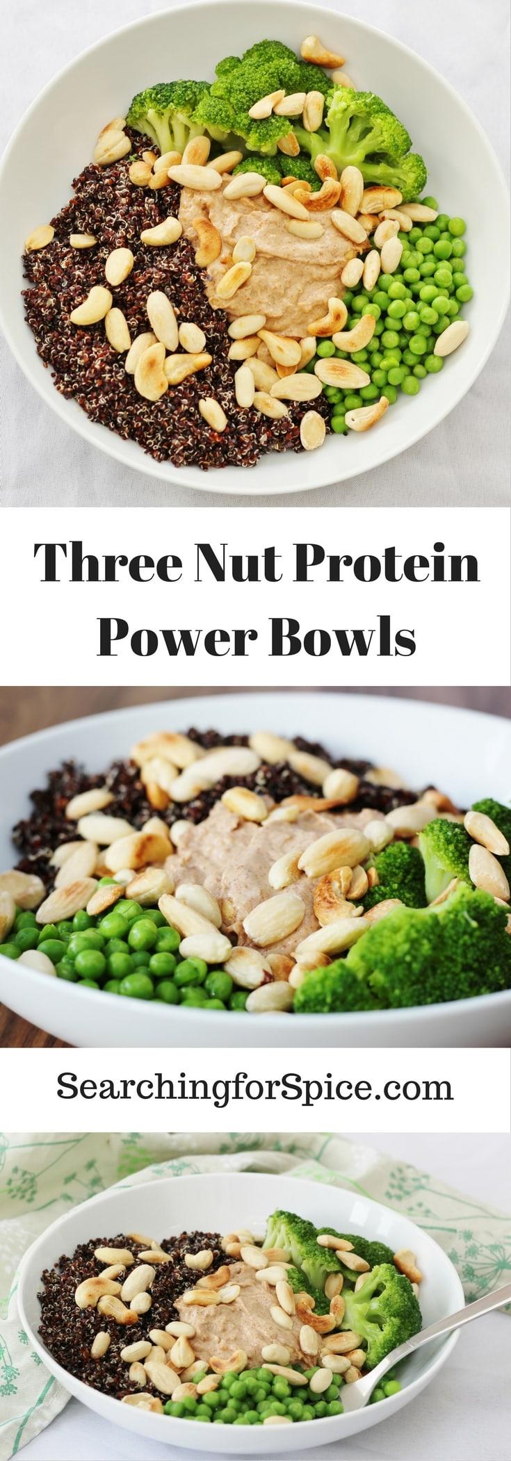 Three Nut Protein Power Bowls